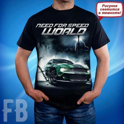 Мужская светящаяся футболка Need For Speed World