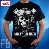 """Светящаяся футболка  """"Харли Дэвидсон"""""""