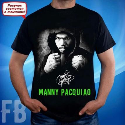 "Мужская светящаяся футболка ""Мэнни Пакьяо"""