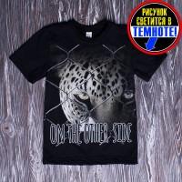 "Футболка ""Леопард в клетке"""