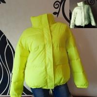 Подростковая светоотражающая куртка - желтый