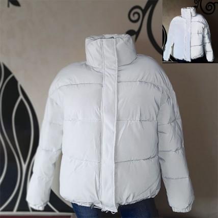 Жіноча світловідбиваюча куртка - білий