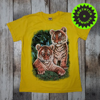 "Светящаяся футболка  ""Тигрята"" - желтый"