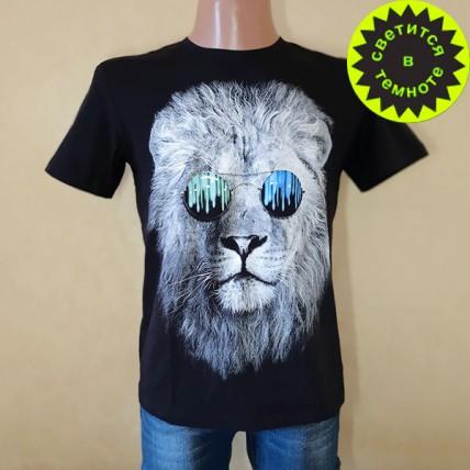 "Чоловіча футболка ""Лев в окулярах"""