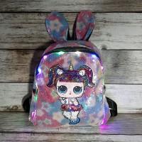 """Рюкзак """"Лол"""" с ушками разноцветный"""