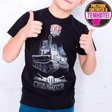 """Светящаяся футболка """"World of Tanks"""" черный"""