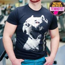 "Светящаяся футболка ""Питбуль"" фума"